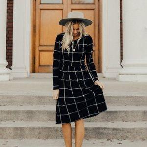 Roolee Midi Plaid Dress